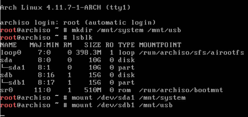 Mounting directories to restore the backup with rsync