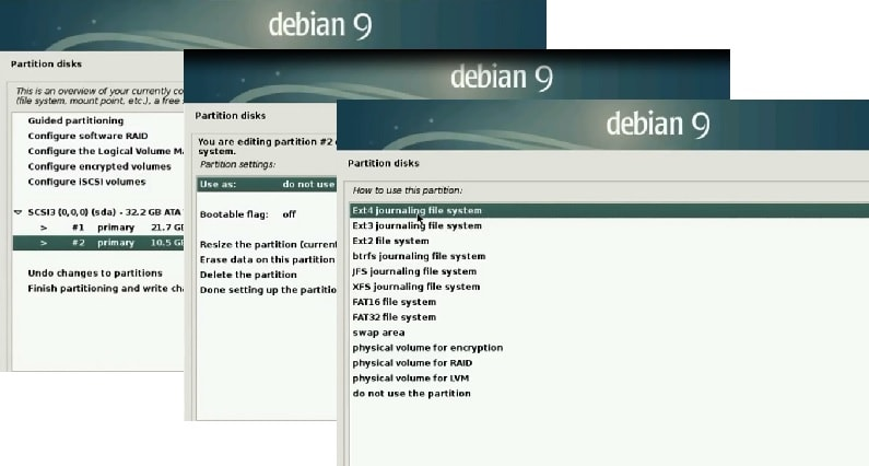 Debian 9 Installation Guide_home partition_file system