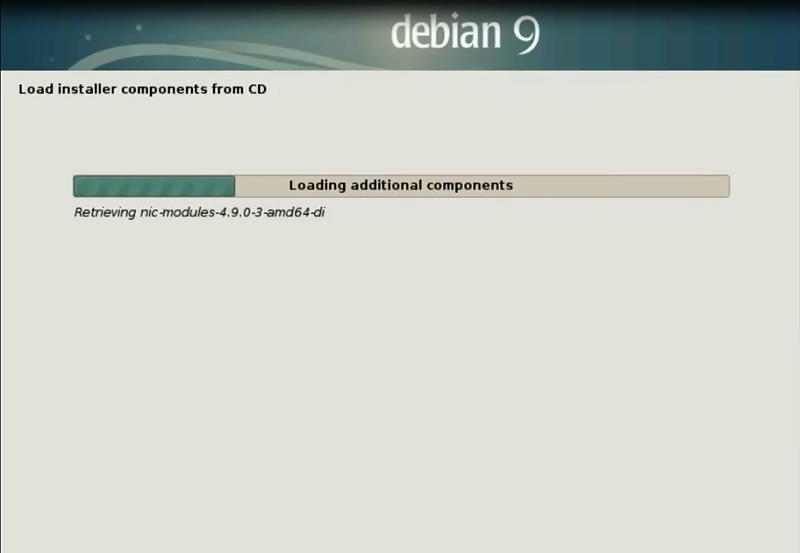 Debian 9 Installation Guide_loading components from CD