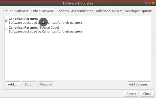 Select Canonical Partners repository