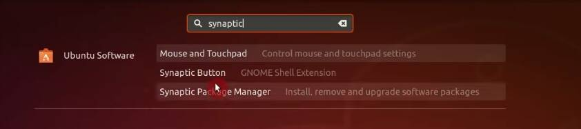 Installing the Synaptic package manager