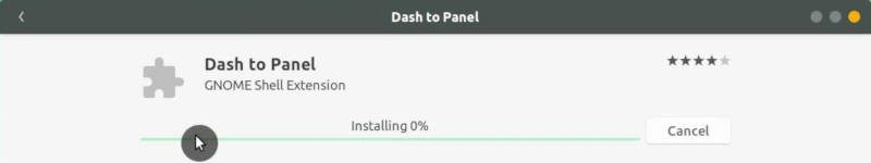 Install Dash to panel extension