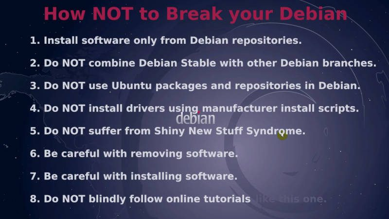 How NOT to Break Debian