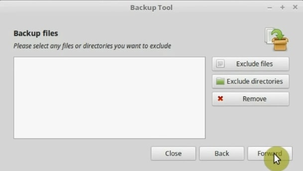 If you want you can exclude files and directories