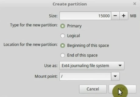 Create partition window