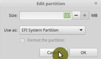 Creating a EFI partition