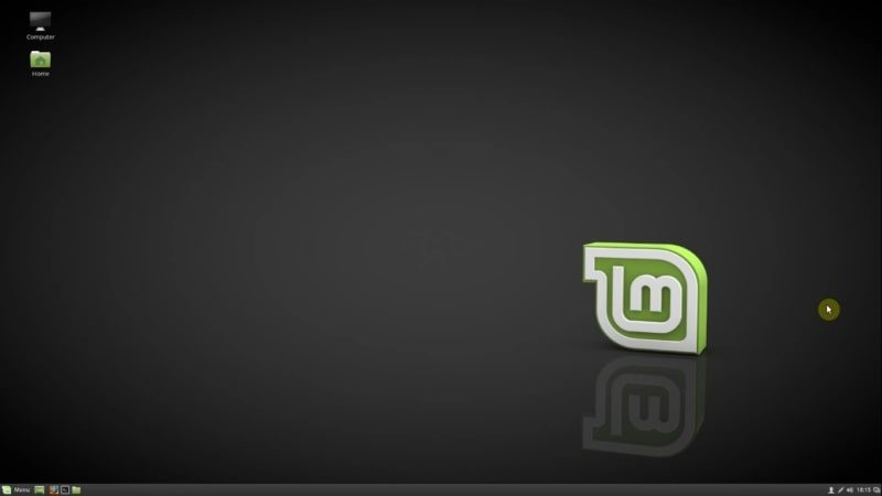 Linux Mint is installed