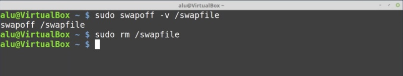 5.- Removing a Linux swwap file