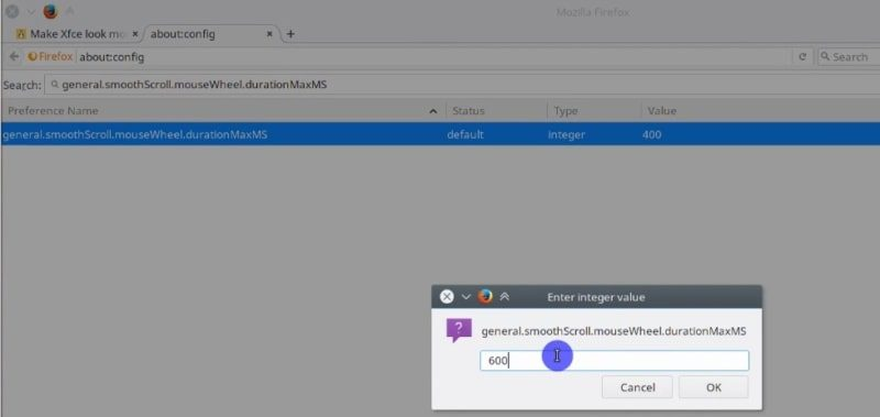 Modify another Firefox configuration to improve the scrolling