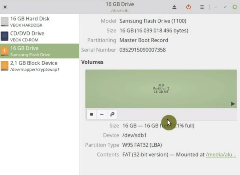 Checking the filesystem of my USB flash drive in Disk utility