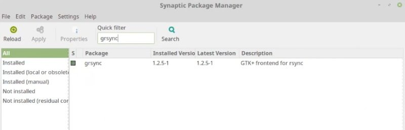 You can install grsync using synaptic