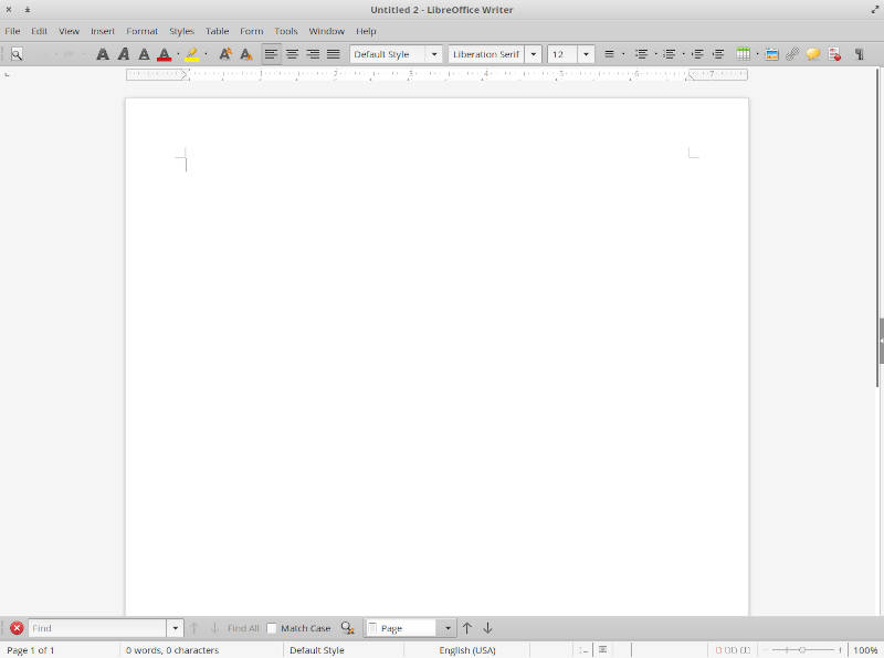 LibreOffice in elementary OS