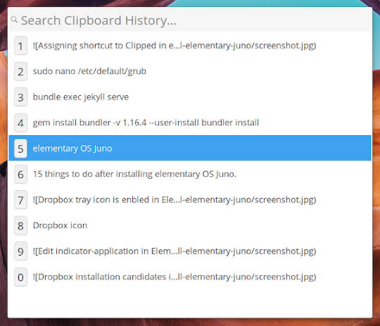 Clipped in elementary OS