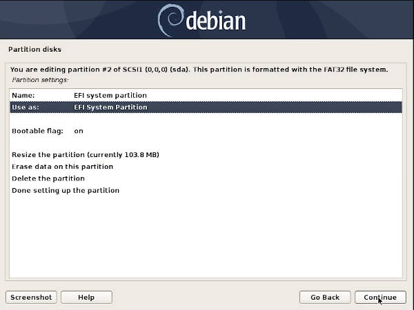 Debian 10 in UEFI mode
