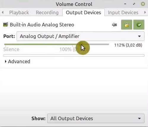 Pulse Audio Volume Control sound amplification on Linux Mint 20.