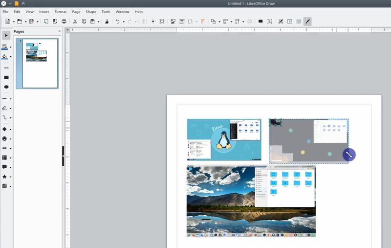 Using LibreOffice Draw app on Linux to convert images to PDF