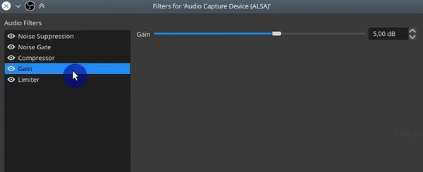 OBS Gain Audio Capture Filter