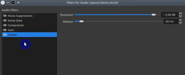 OBS Limiter Audio Capture Filter