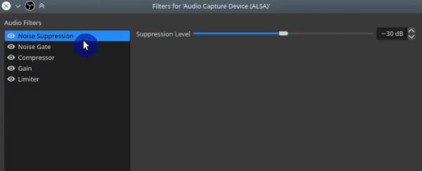 OBS Noise Suppression Audio Capture Filter